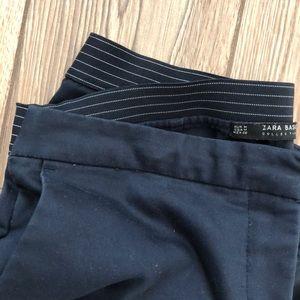 Zara Elastic Waist Ankle Pant - Navy - Size M